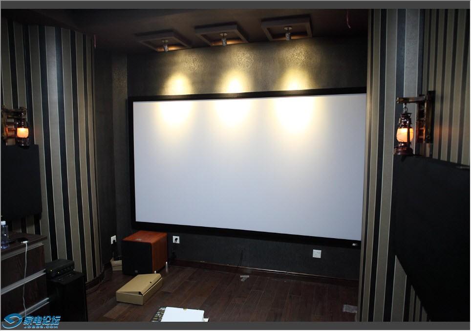 及电影屏射】书房兼视听室 AVS测试碟和4K美