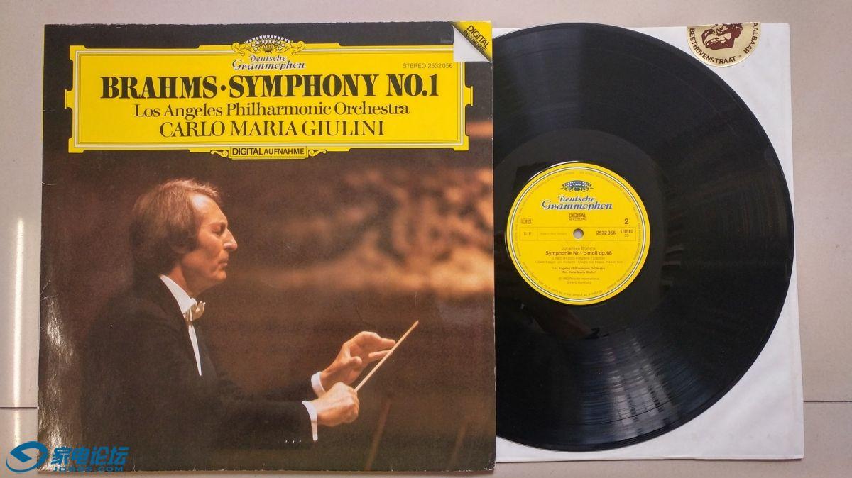 W1747-1 朱里尼 指挥洛杉矶爱乐《勃拉姆斯 第1交响曲》,西德DG立体声,唱片NM-,80元.jpg
