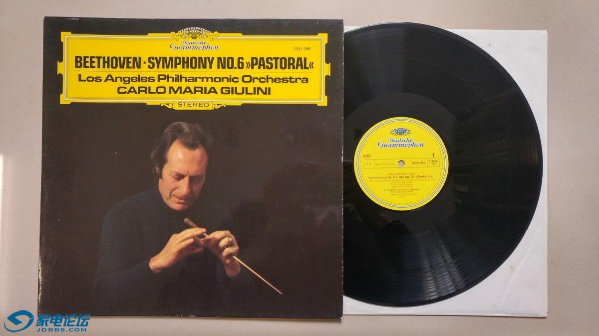 W1765-1 朱里尼 指挥洛杉矶爱乐《贝多芬 第6交响曲(田园)》,西德DG立体声,唱片盘.jpg