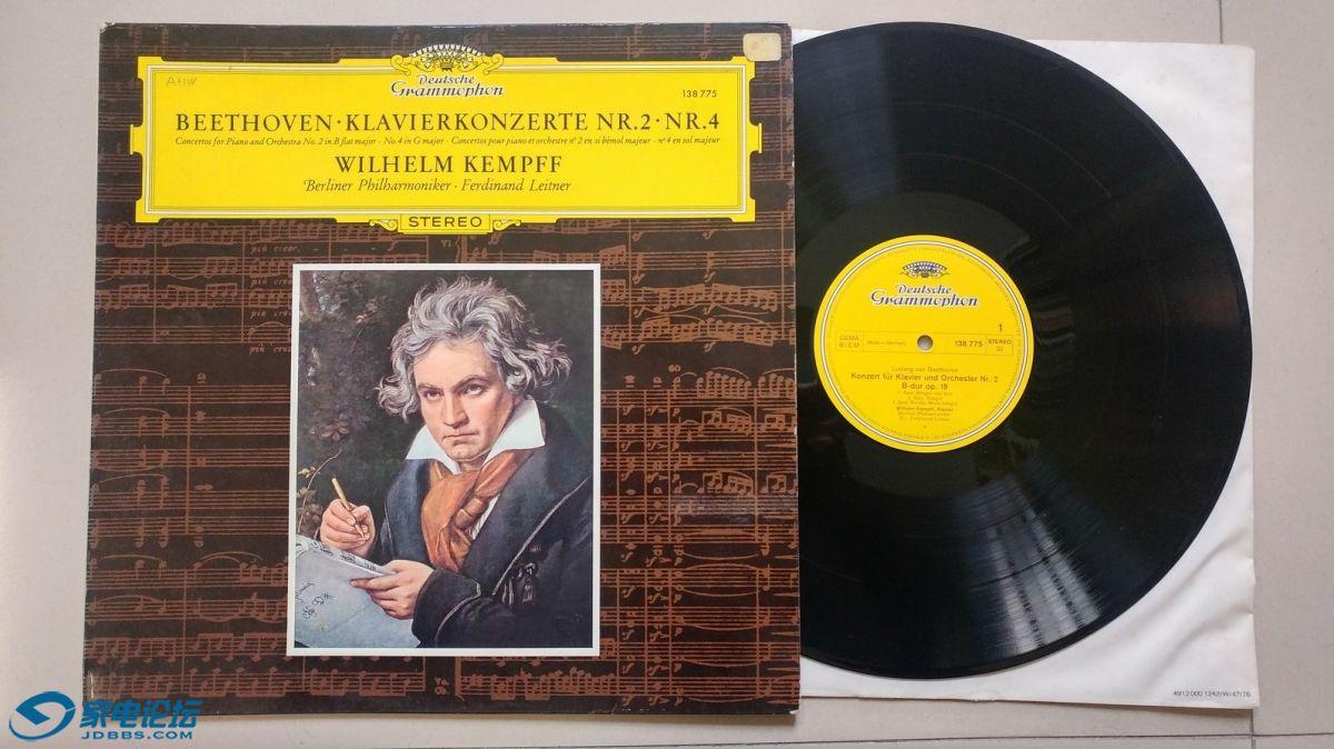 W1769-1 莱特勒 指挥柏林爱乐乐团,威廉·肯普夫 演奏《贝多芬 第2、4钢琴协奏曲》,.jpg