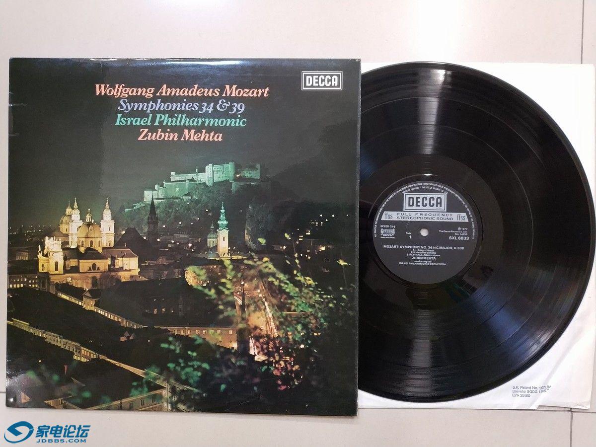 W1941-1 梅塔 指挥以色列爱乐乐团《莫扎特 第34、39交响曲》,英国DECCA立体声,唱片N.jpg