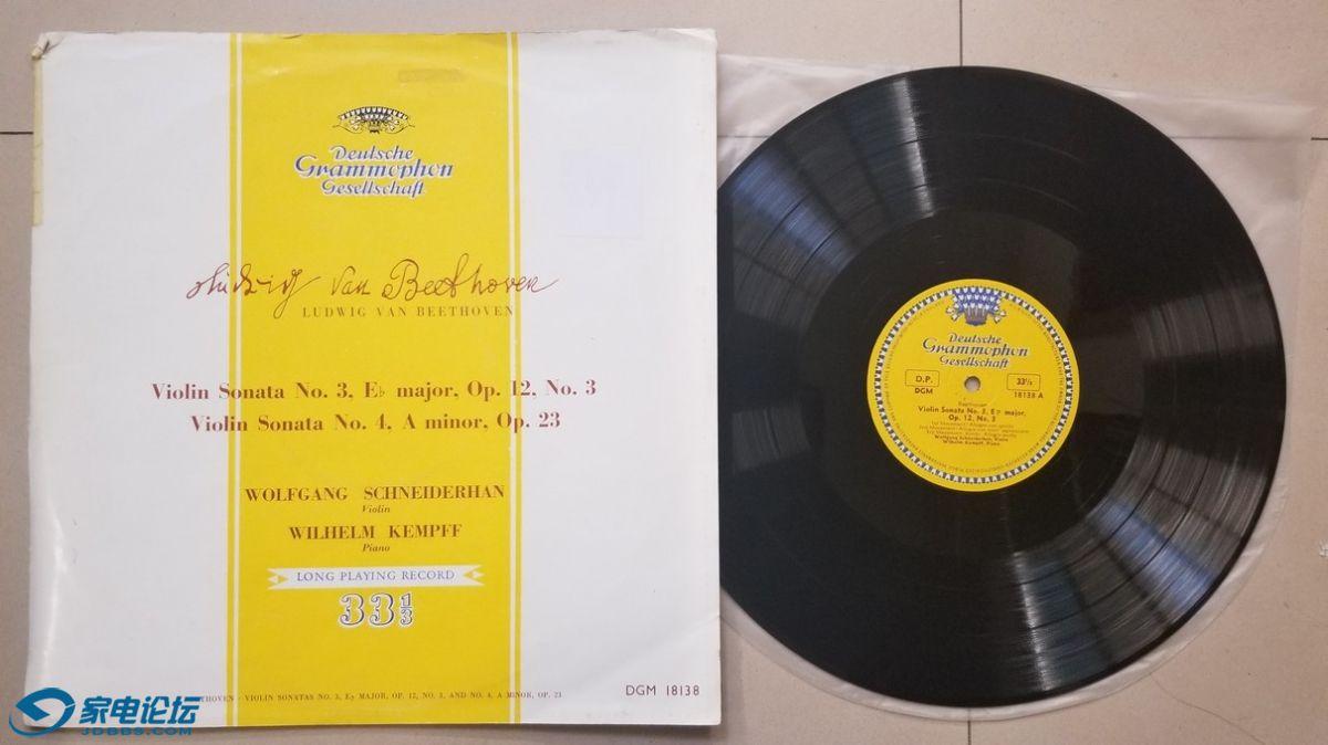 W1983-1 施奈德汉 小提琴、肯普夫 钢琴演奏《贝多芬 第3、4小提琴奏鸣曲》,德国DGG单.jpg