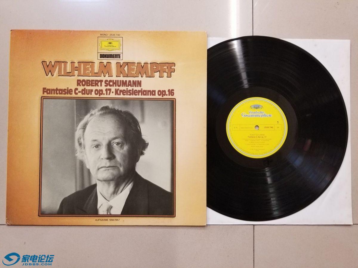 W2529-1 威廉·肯普夫 钢琴《舒曼 幻想曲、克莱斯勒偶记》,西德DG立体声,唱片NM,80元.jpg