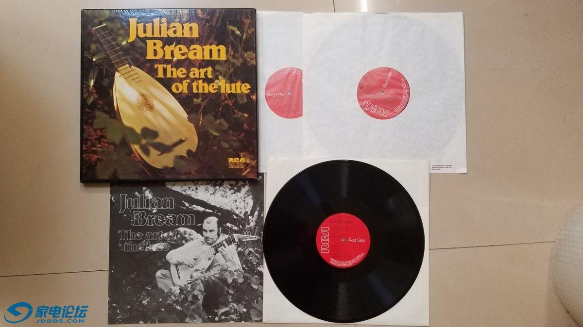 H0326-1 朱利安·布里姆 演奏《鲁特琴的艺术》(3LP),英国RCA立体声,3张唱片NM-,300元.jpg