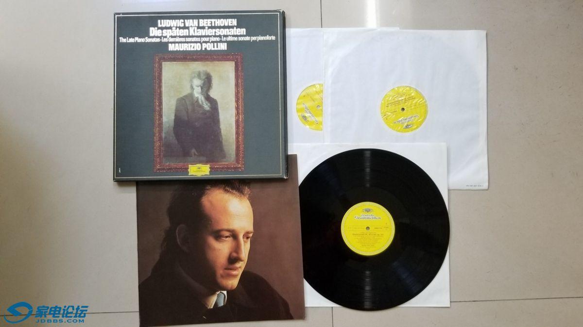 H0416-1 波利尼 钢琴《贝多芬 晚期钢琴奏鸣曲作品》(3LP),西德DG立体声,3张唱片NM.jpg