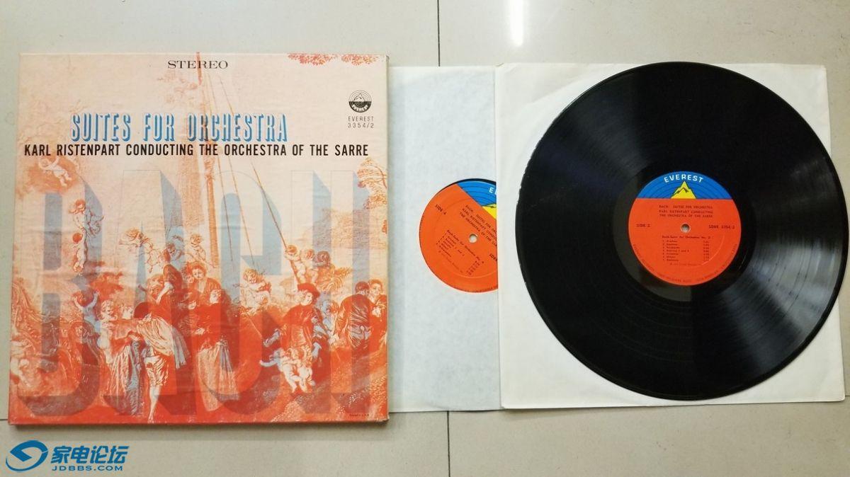 H0428-1 卡尔·瑞斯特 指挥萨尔管弦乐团《巴赫 管弦乐组曲作品》(2LP),美国EVEREST.jpg