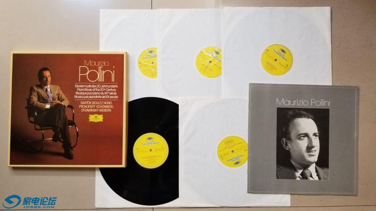 H0580-1 波利尼 演奏《20 世纪的钢琴音乐作品》(5LP),西德DG立体声,5张唱片NM-,450元.jpg