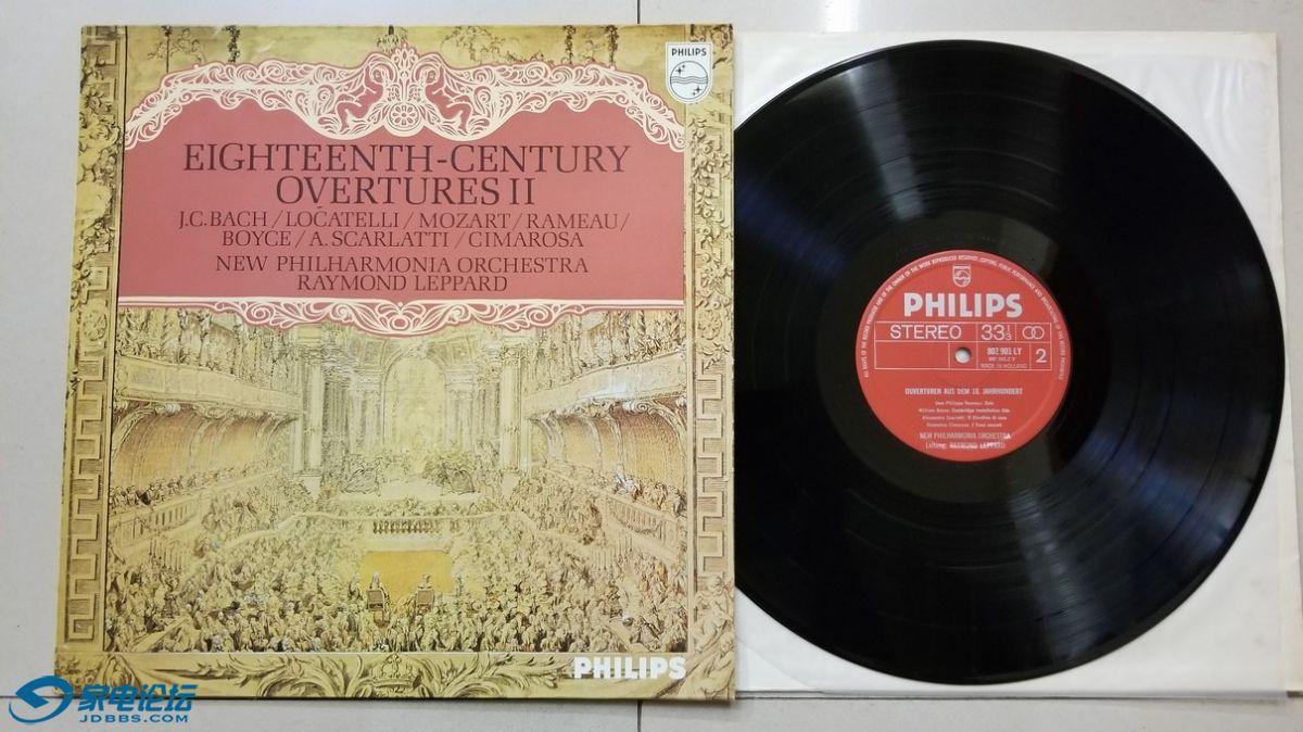 W2627-1 雷蒙德·李帕德 指挥新爱乐乐团《18世纪序曲集》,荷兰Philips立体声,红底银.jpg