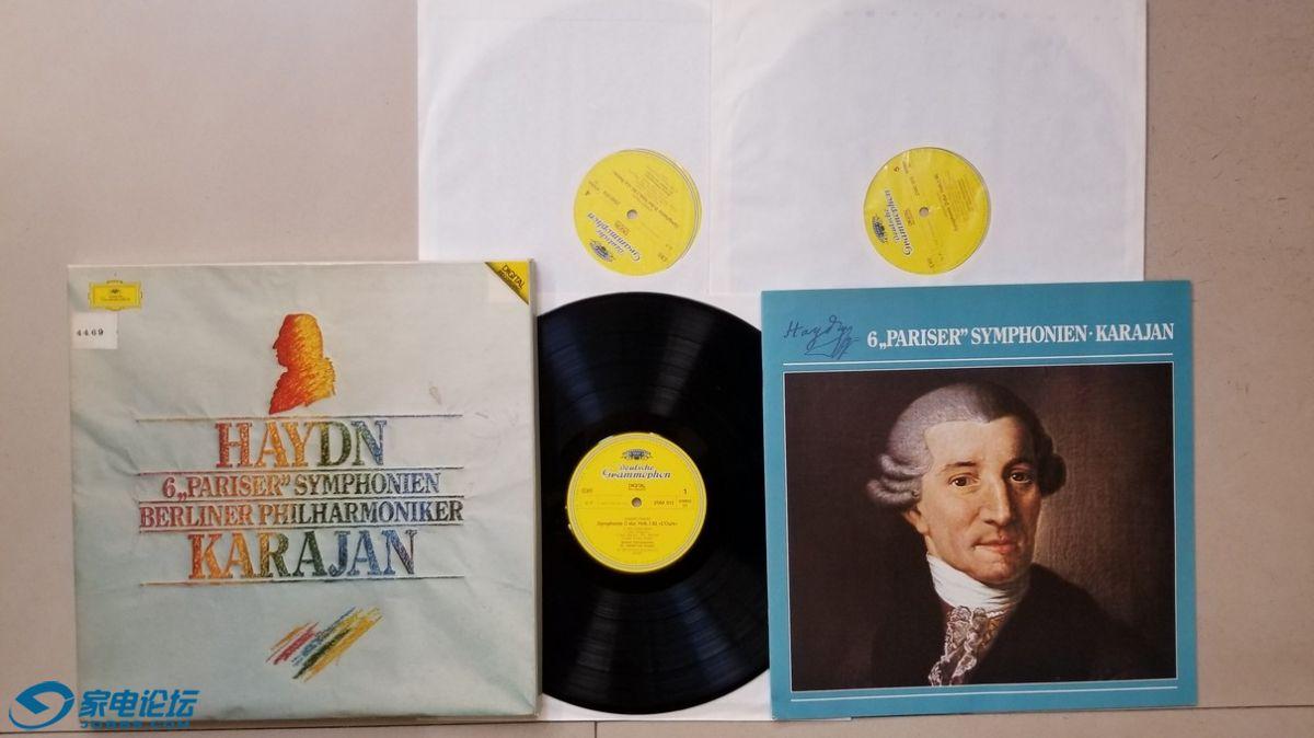 H0628-1 卡拉扬 指挥柏林爱乐乐团《海顿 第82-87交响曲》(3LP),西德DG立体声,3张.jpg