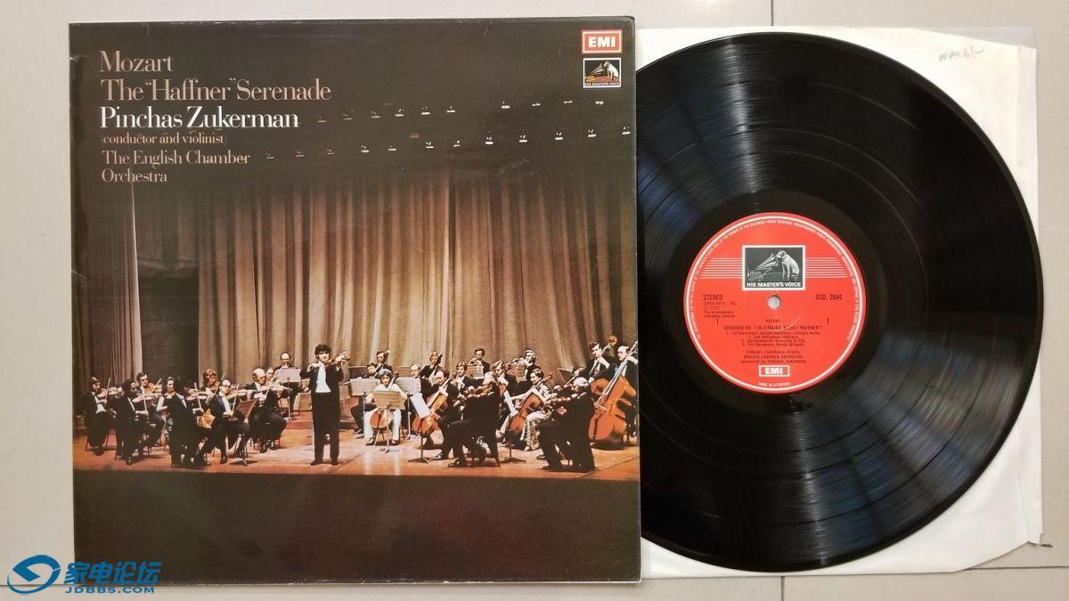 "W2716-1 祖克曼 指挥英国室乐团及小提琴演奏《莫扎特 ""哈夫纳""小夜曲》,英国EMI立.jpg"
