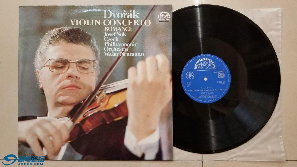 W2718-1 纽曼 指挥捷克爱乐乐团,苏克 小提琴《德沃夏克 小提琴协奏曲》,捷克SUPRAPH.jpg