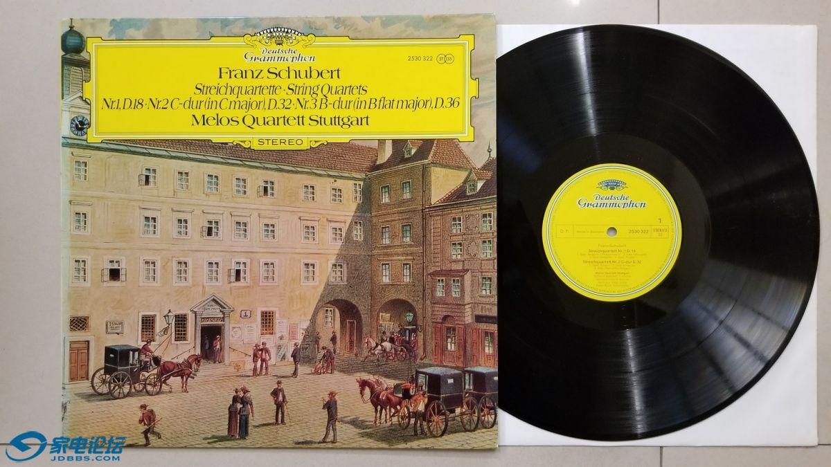 W2731-1 斯图加特Melos四重奏组《舒伯特 第1-3弦乐四重奏》,德国DG立体声,唱片NM,150元.jpg