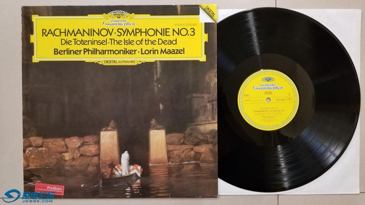 W2732-1 马泽尔 指挥柏林爱乐乐团《拉赫玛尼诺夫 第3交响曲、死之岛》,西德DG立体声.jpg