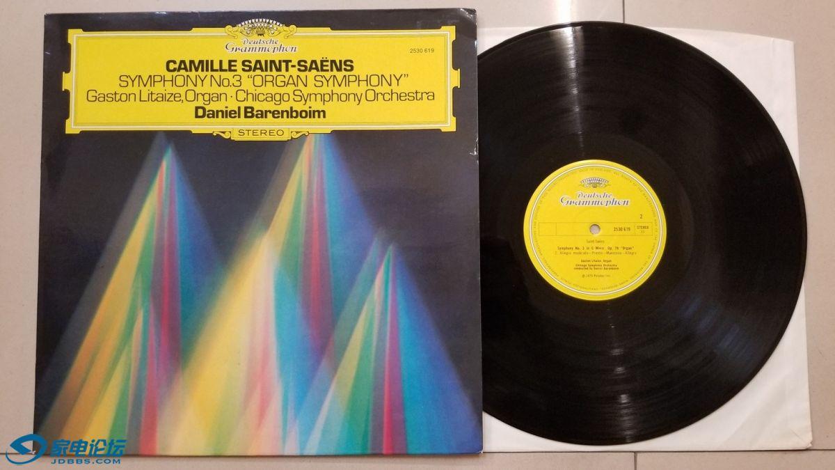 W2749-1 《发烧音响》上榜唱片,巴伦博伊姆 指挥芝加哥交响乐团《圣桑 第3交响曲(管.jpg