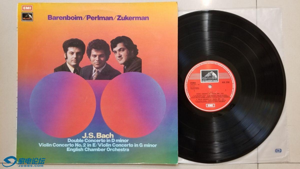W2754-1 巴伦博伊姆 指挥英国室乐团,帕尔曼、祖克曼 小提琴《巴赫 D小调双重协奏曲,.jpg