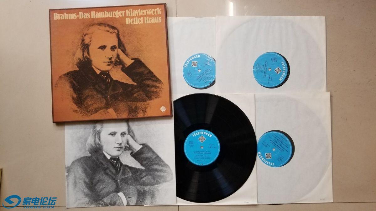 H0691-1 德特列夫·克劳斯 钢琴《勃拉姆斯 汉堡钢琴作品集》(4LP),德国德律风根立.jpg
