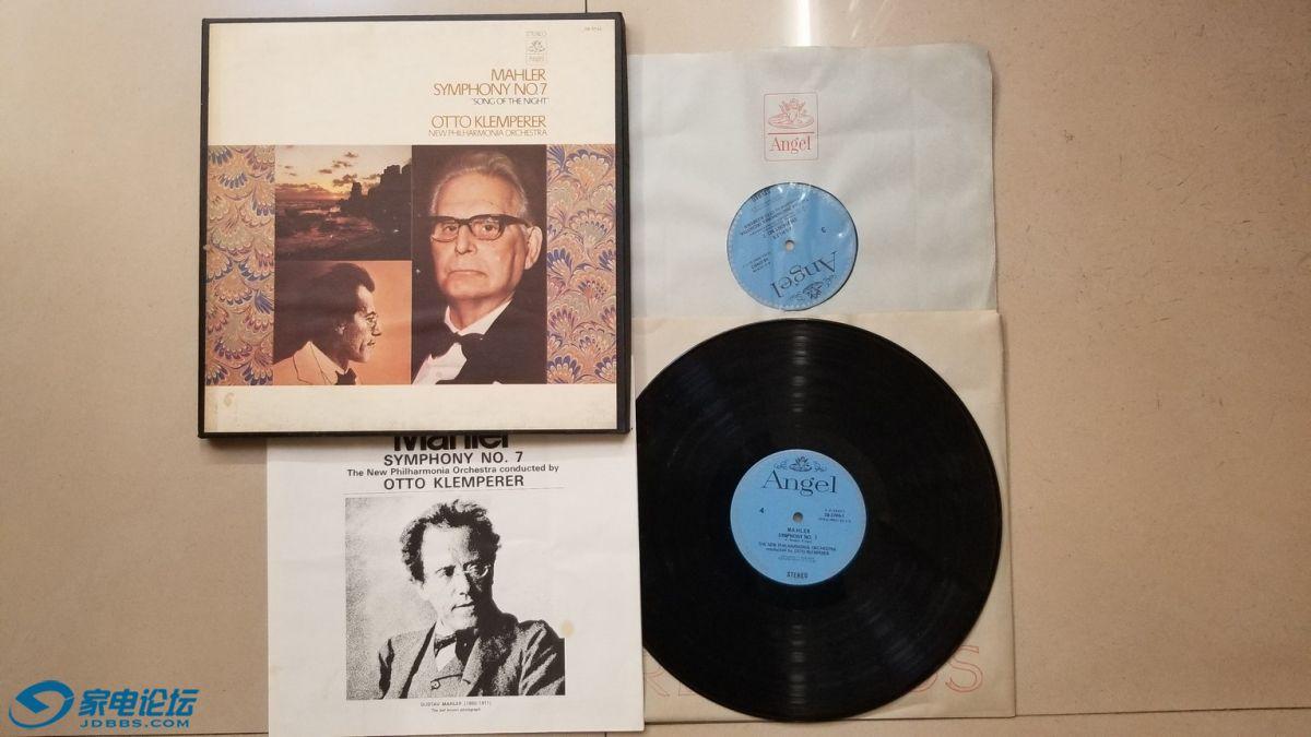H0692-1 克伦佩勒 指挥新爱乐乐团《马勒 第7交响曲、夜之歌》(2LP),美国Angel立体.jpg