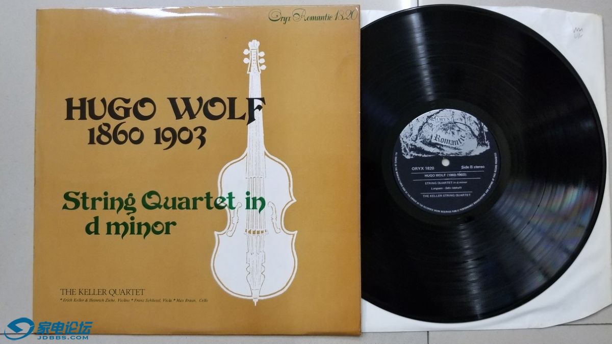 W2835-1 凯勒四重奏组《沃尔夫 D小调弦乐四重奏》,美国ORYX立体声,厚盘,唱片NM-,120元.jpg