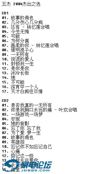 王杰《2004 杰出之选2CD(香港华纳)》[WAV整轨]3.png