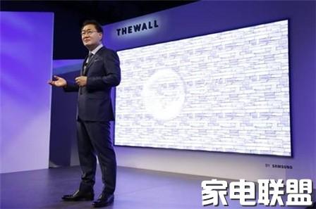 """三星推出首款146英寸模块化MicroLED电视""""The Wall"""""""