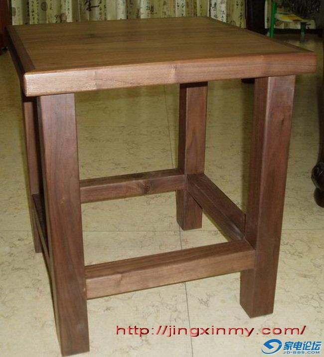 胡桃木全实木凳子