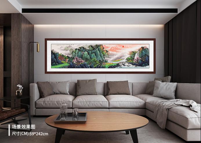 家居装饰画选青绿山水画,让整个家顿时变得清新起来