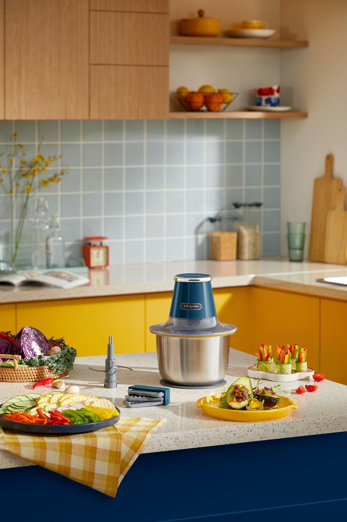 多功能备料四合一,让下厨更高效,新品东菱备餐绞肉机惊喜上市